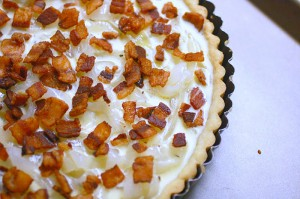 onion bacon tart
