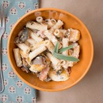 Pasta with Roasted Pumpkins and Goat Cheese