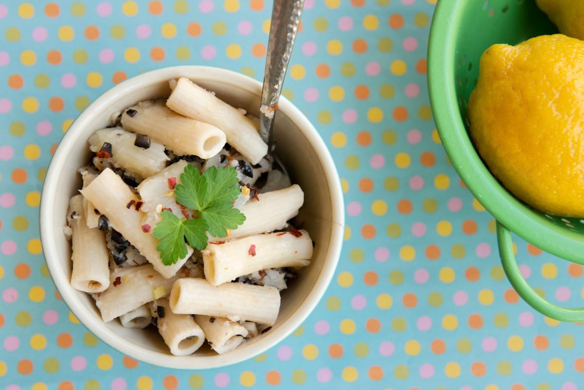 Gluten Free Olive & Cauliflower Pasta   Garlic, My Soul