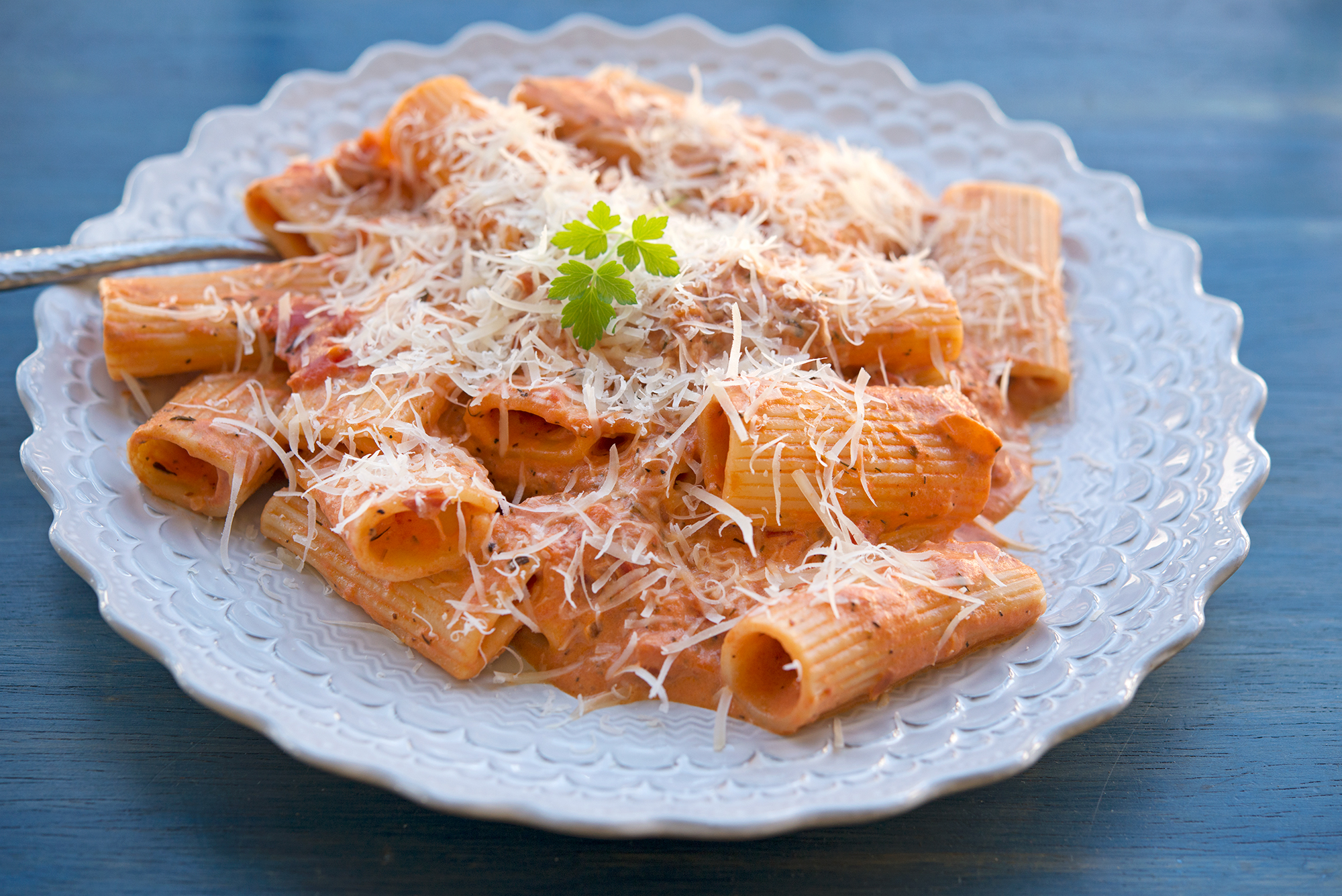 Garlic My Soul • Vodka Rigatoni