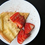 Oven Pancake with Strawberries