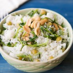 Coconut Rice with Pea Tendrils Recipe