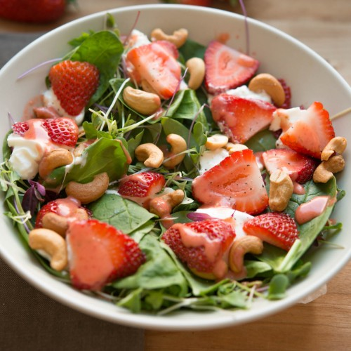 Spinach Strawberry Salad Redux