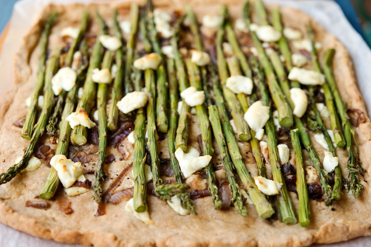 Asparagus & Goat Cheese Tart | Garlic, My Soul