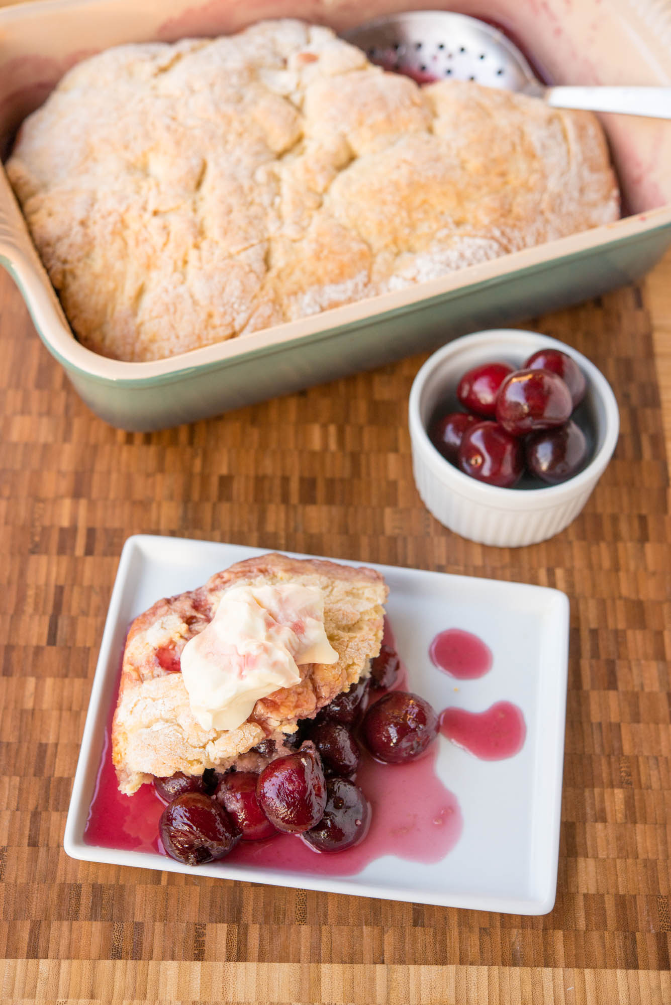 Garlic My Soul • Sweet Cherry Cobbler
