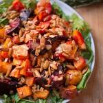 Roasted Vegetable & Arugula Salad