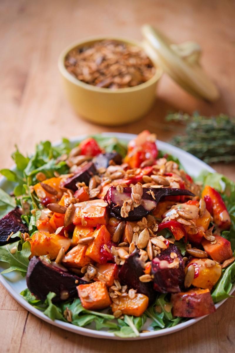 Roasted Vegetable & Arugula Salad   Garlic, My Soul