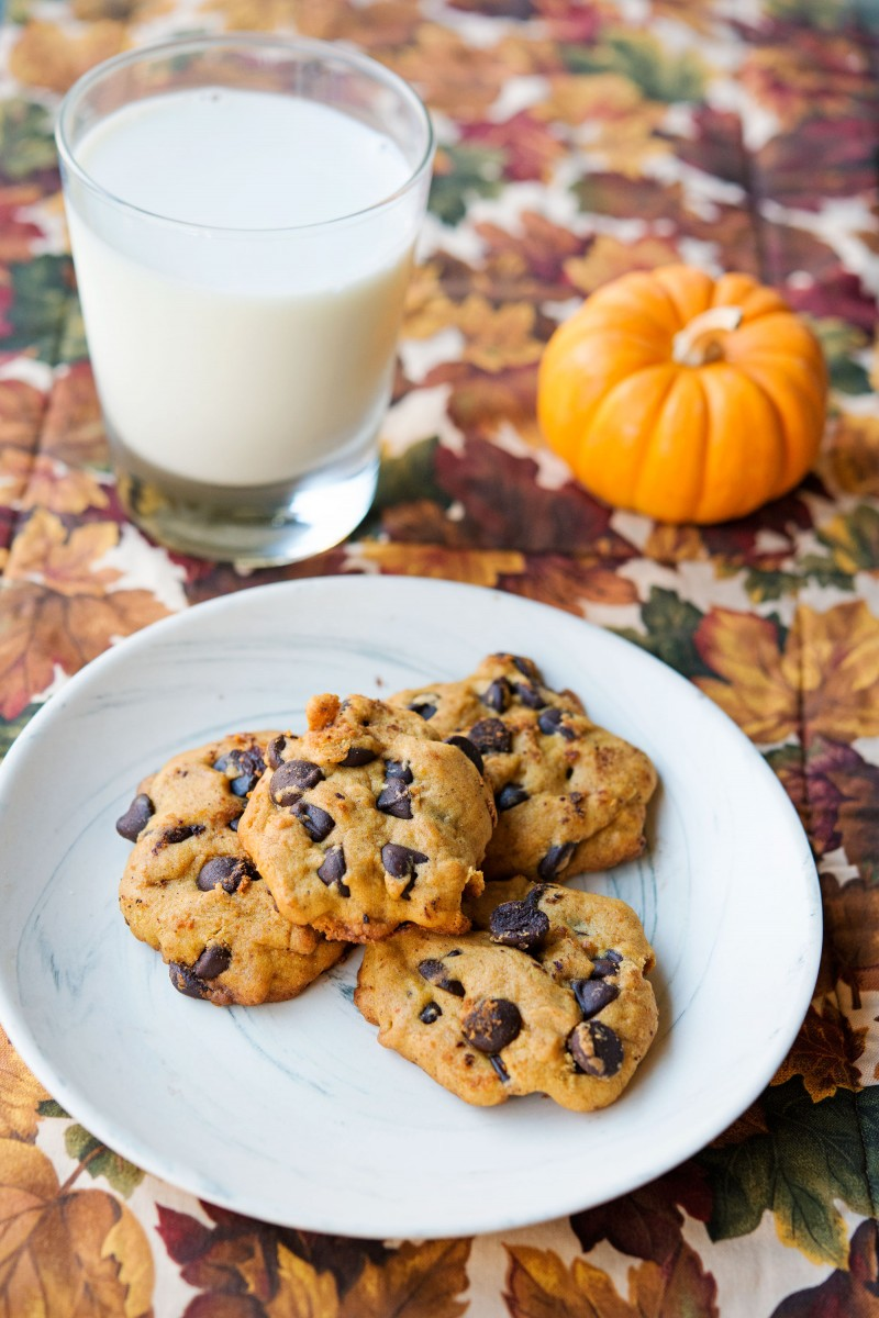 Pumpkin Chocolate Chip Cookies | Garlic, My Soul