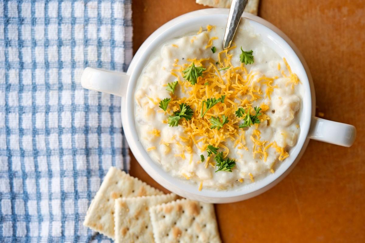 Creamy Potato Soup   Garlic, My Soul