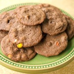 Chocolate Three-Chip Cookies