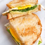Grilled Cheese Week: Savory Fried Egg + Spinach