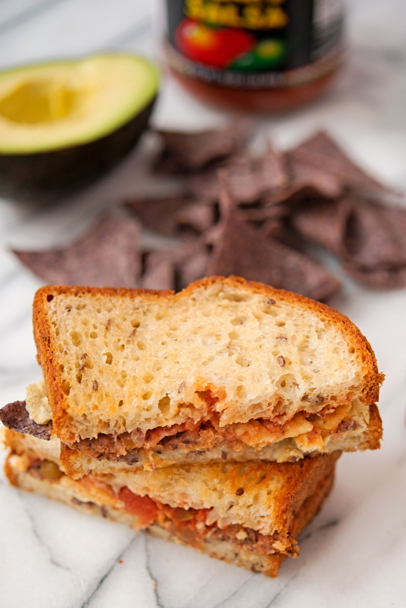 Chips & Salsa Grilled Cheese | Garlic, My Soul