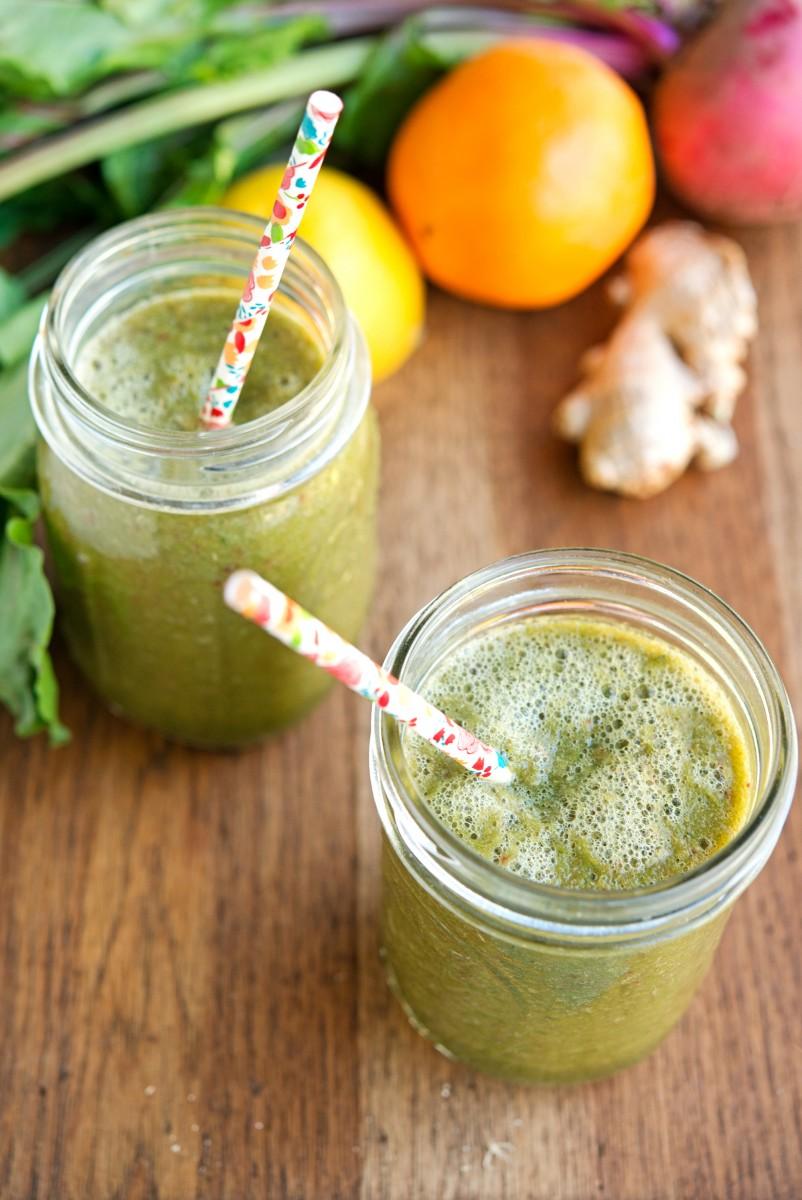 Beet Greens & Citrus Smoothie | Garlic, My Soul
