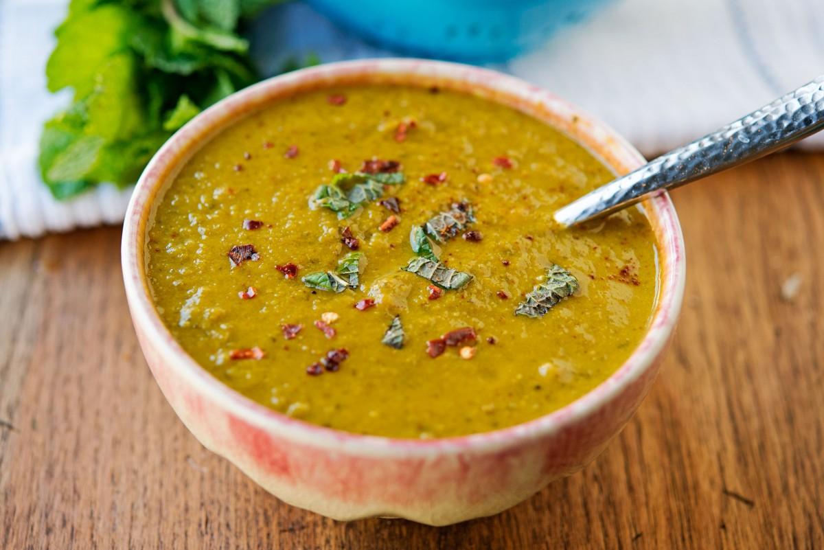 Pea + Mint Soup | Garlic, My Soul