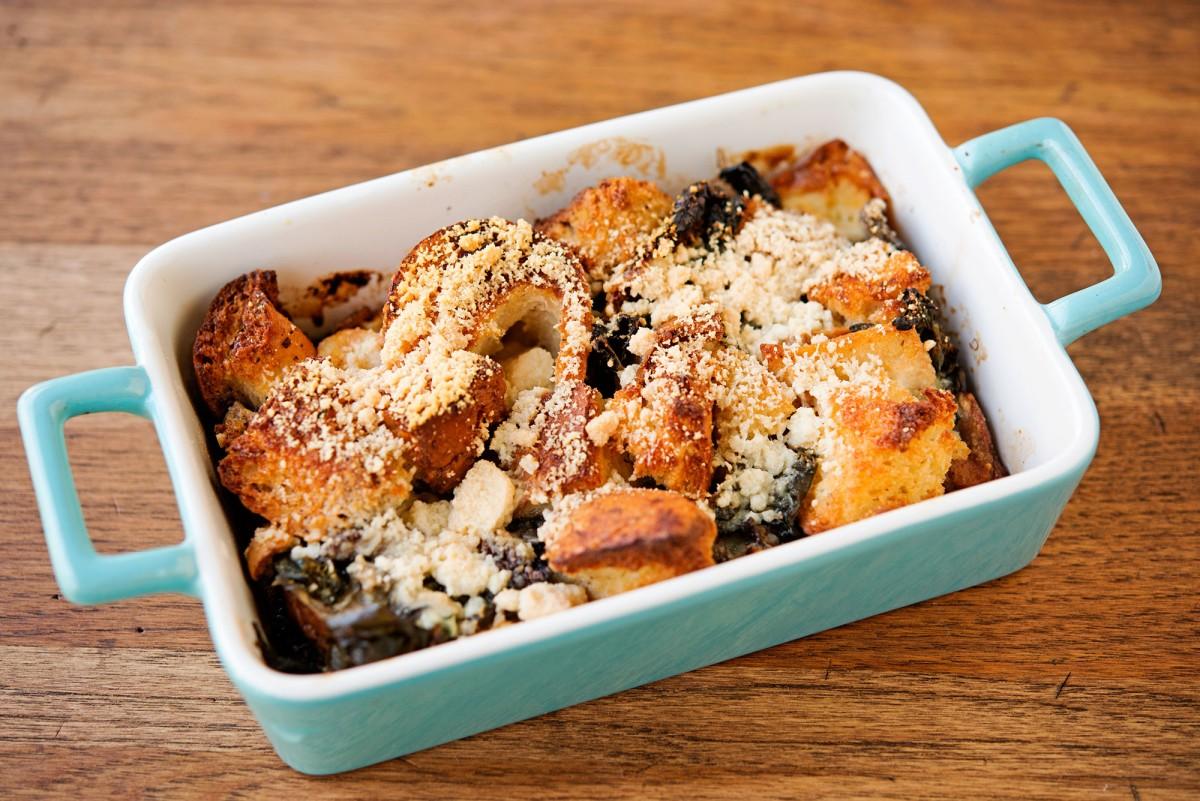 Savory GF Bread Pudding | Garlic, My Soul