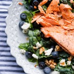 Salmon Walnut Salad