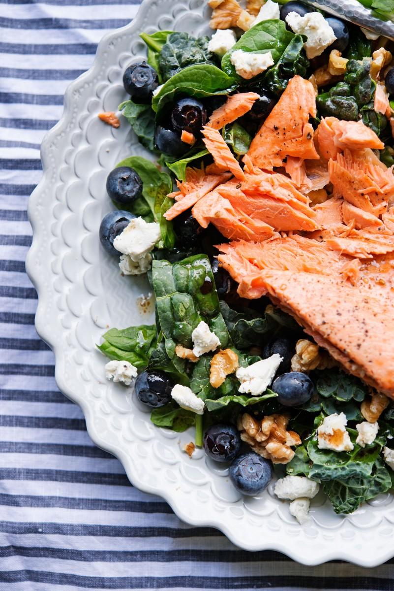 Salmon Walnut Salad   Garlic, My Soul