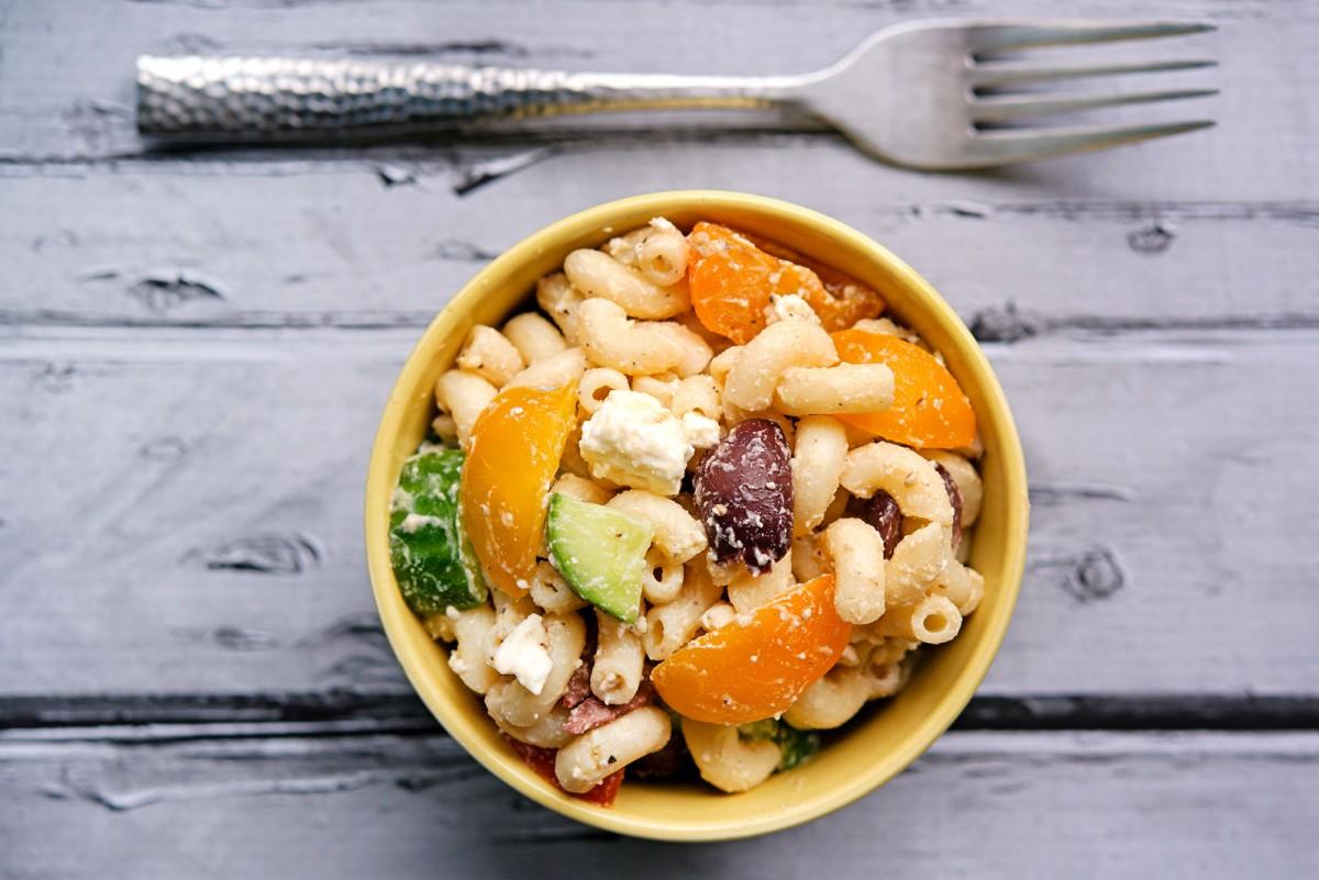 Mediterranean Macaroni Salad | Garlic, My Soul