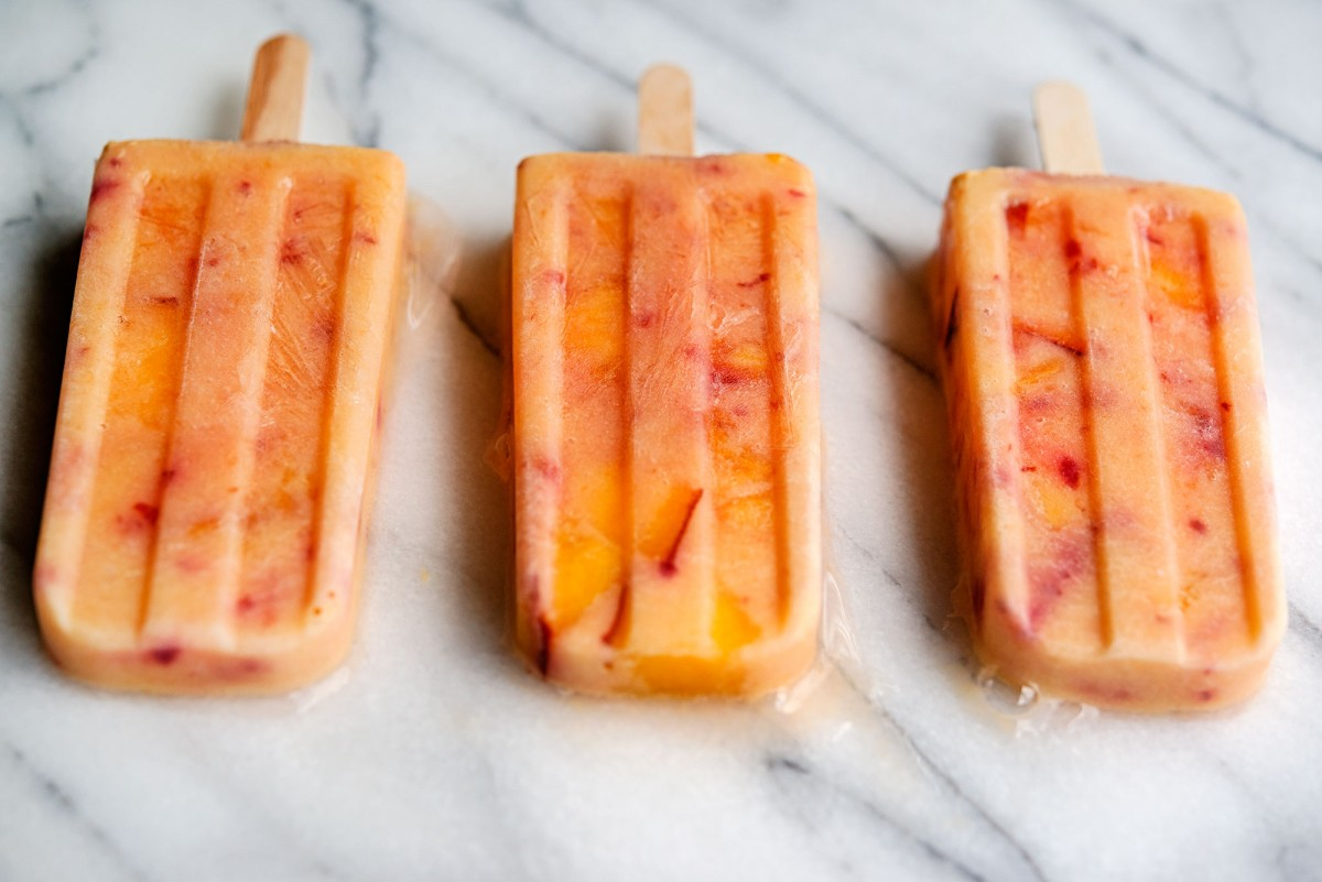 Peaches & Cream Popsicles | Garlic, My Soul