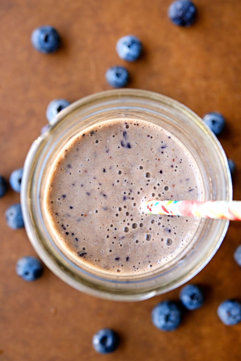 PB + Banana + Blueberry Smoothie | Garlic, My Soul