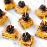 Pumpkin Cashew Butter Blackberry Bites