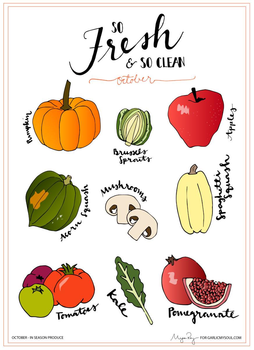 October Produce | Garlic, My Soul | Megan Roy Designs