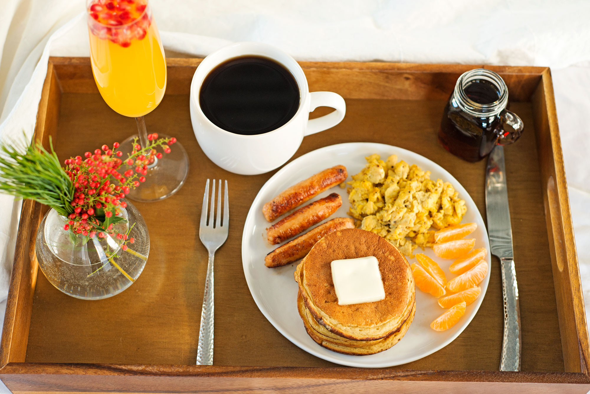 Garlic my soul breakfast in bed sourdough pancakes eggs for A bed and breakfast