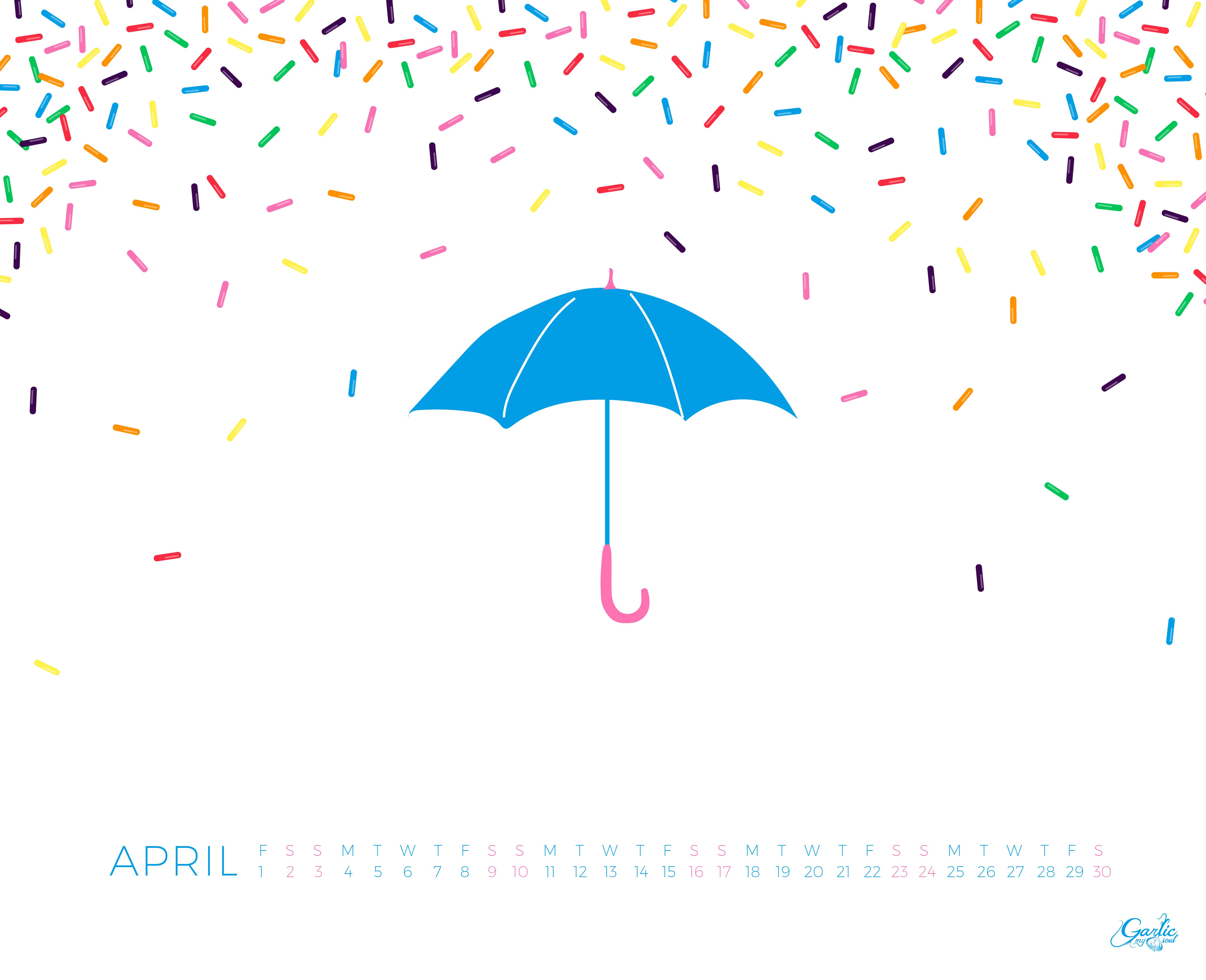 Desktop Calendar April 2016 garlic my soul • april desktop calendar