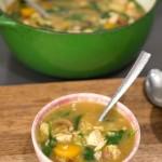 Saffron Chicken Soup w/ Kale
