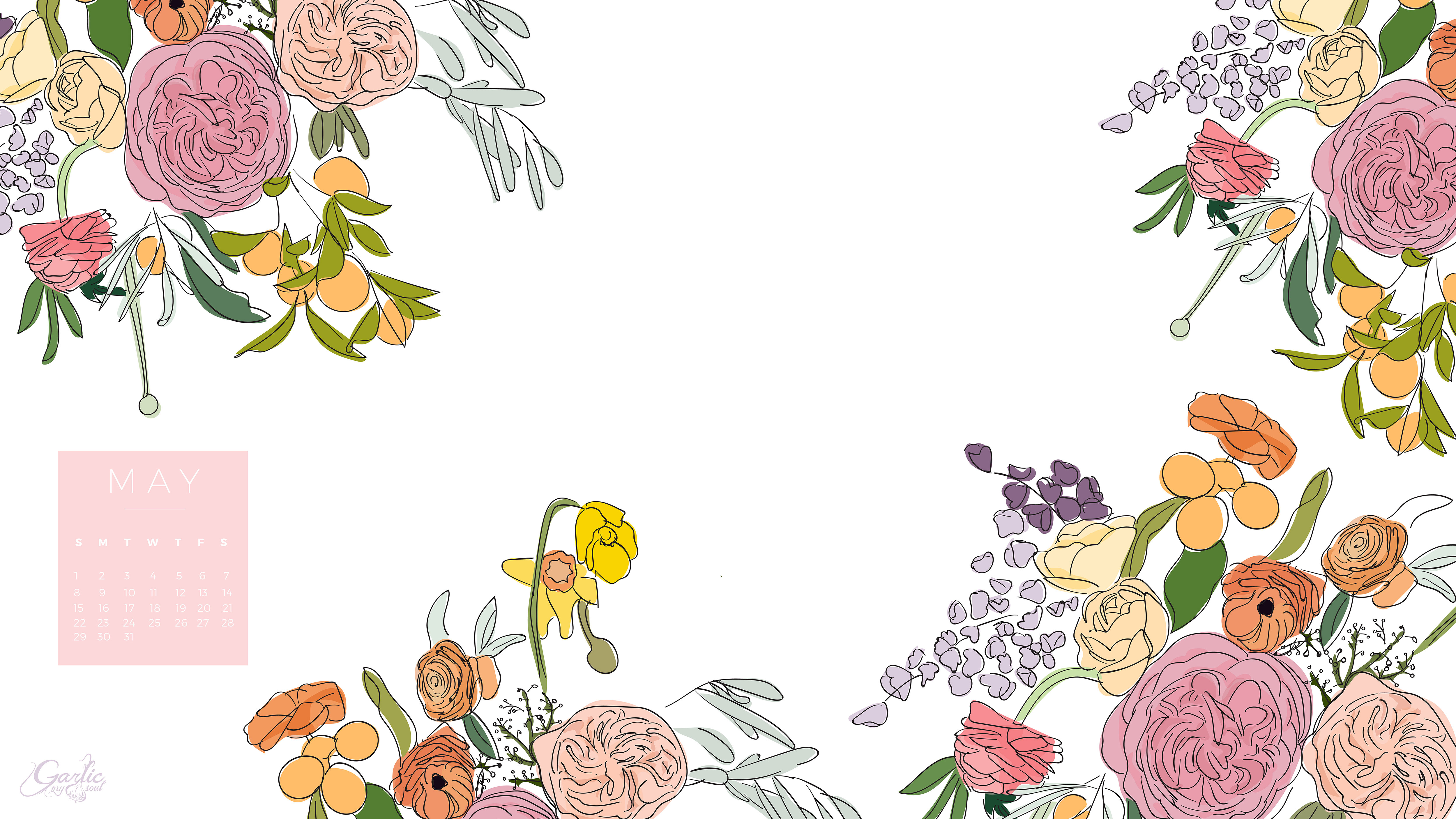 May Calendar Desktop : Garlic my soul may desktop calendar