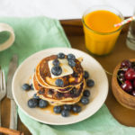 Breakfast in Bed: Honey Blueberry Pancakes