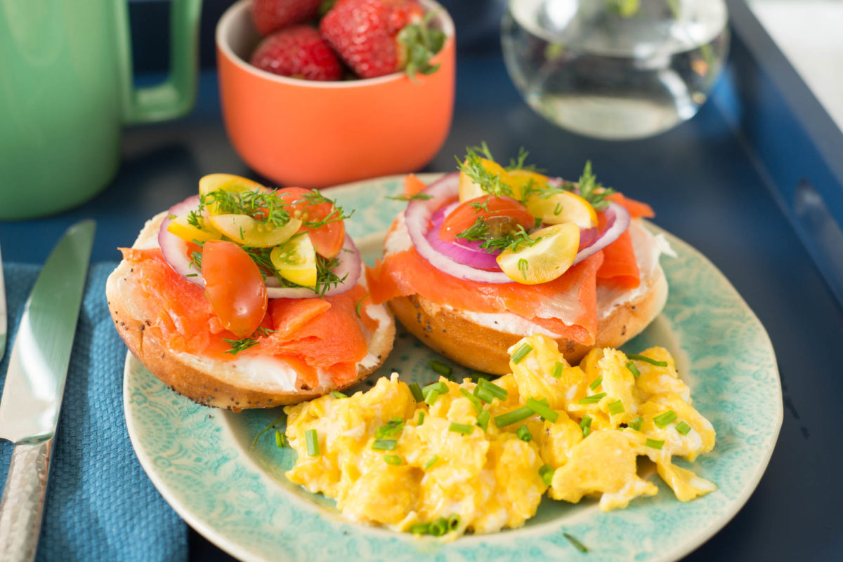 Smoked Salmon Bagels | Garlic, My Soul