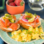 Breakfast in Bed: Smoked Salmon Bagels