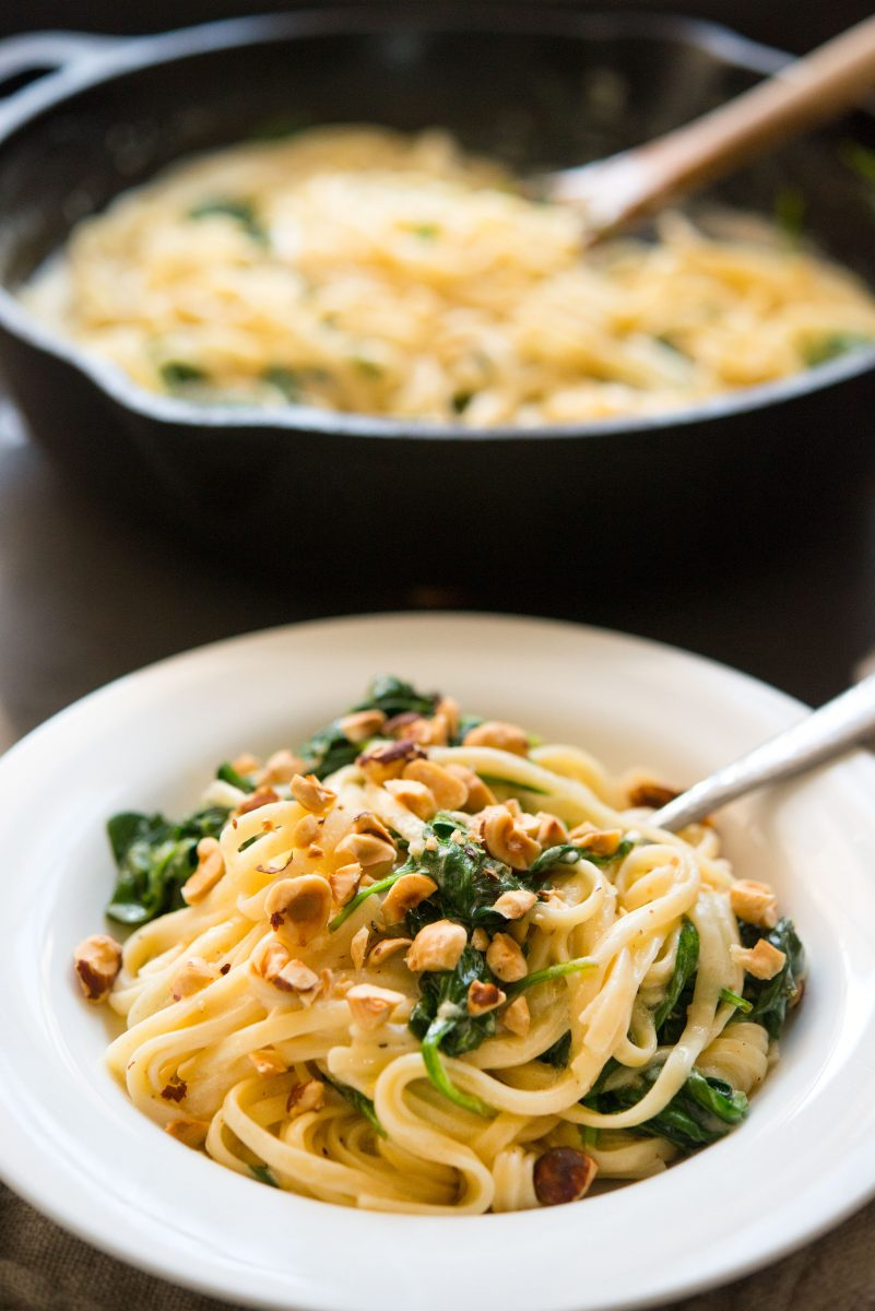 Mascarpone Lemon Hazelnut Pasta | Garlic, My Soul