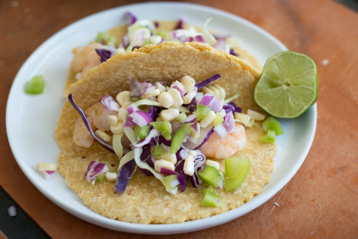 Shrimp Tacos with Roasted Corn-11