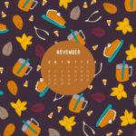 November Desktop Calendar