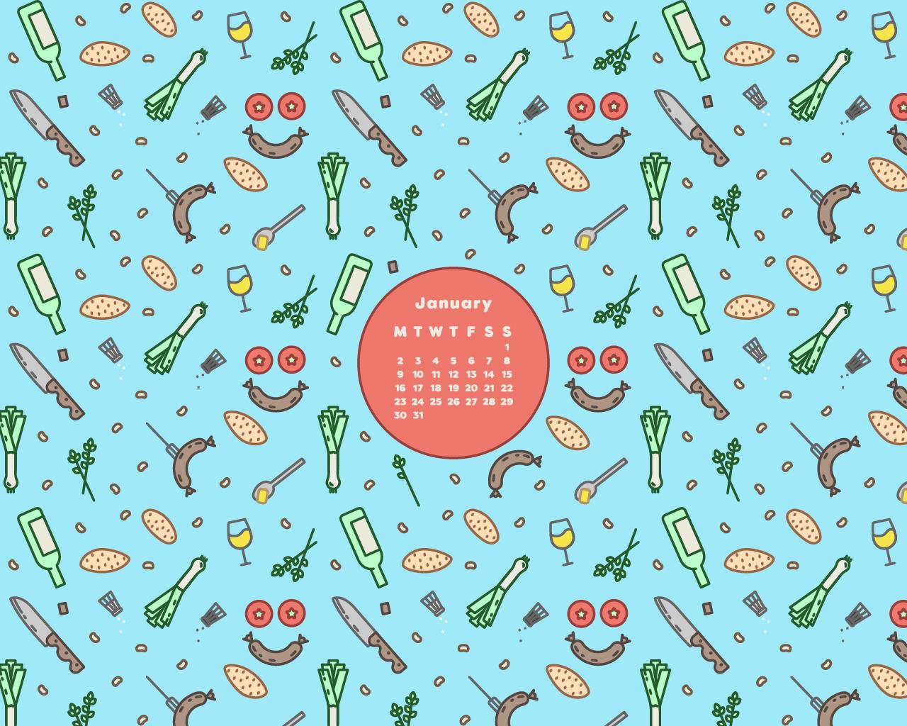 Desktop Calendar April 2017