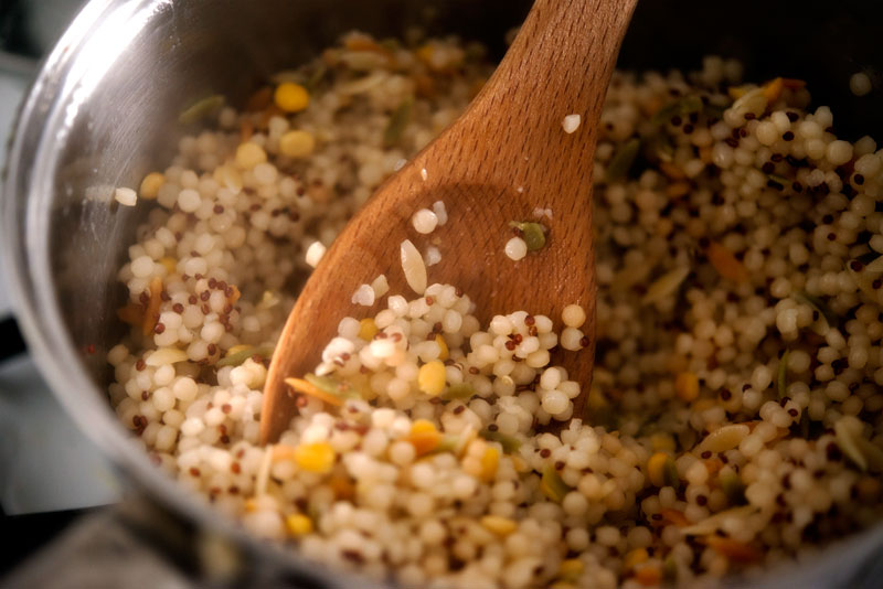 Chicken with Grains + Arugula | Garlic, My Soul