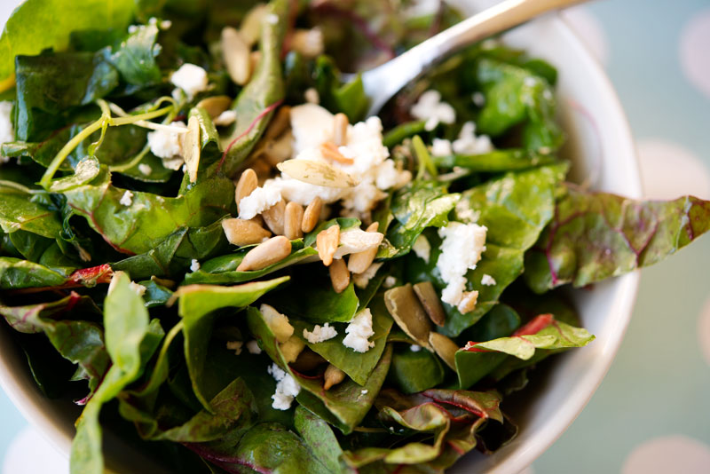 Wilted Green Salad | Garlic My Soul