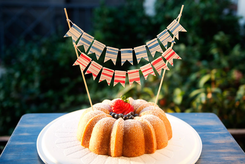 Fourth of July Bundt Cake | Garlic, My Soul