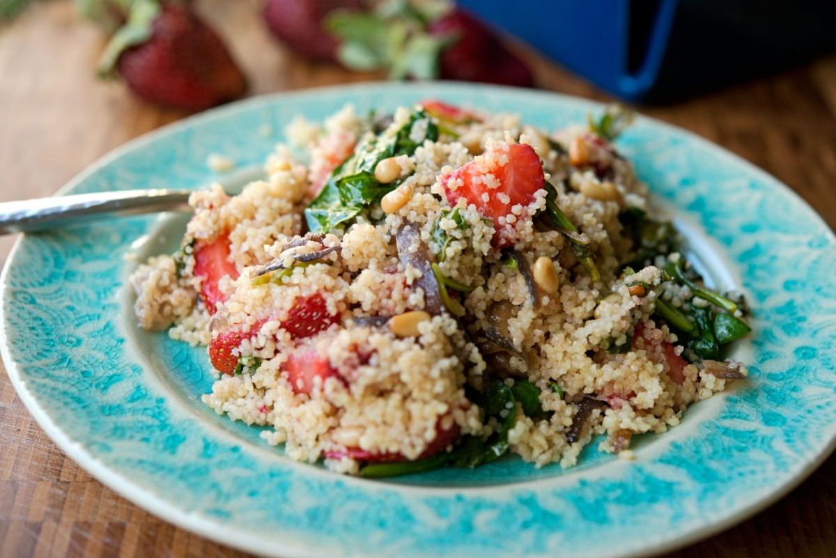 Strawberry Spinach Couscous | Garlic, My Soul