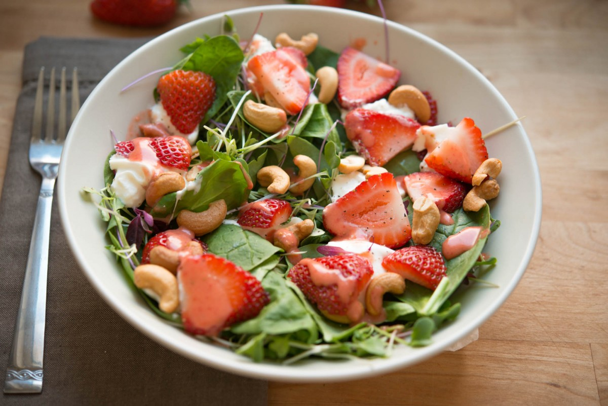Strawberry Spinach Salad | Garlic, My Soul