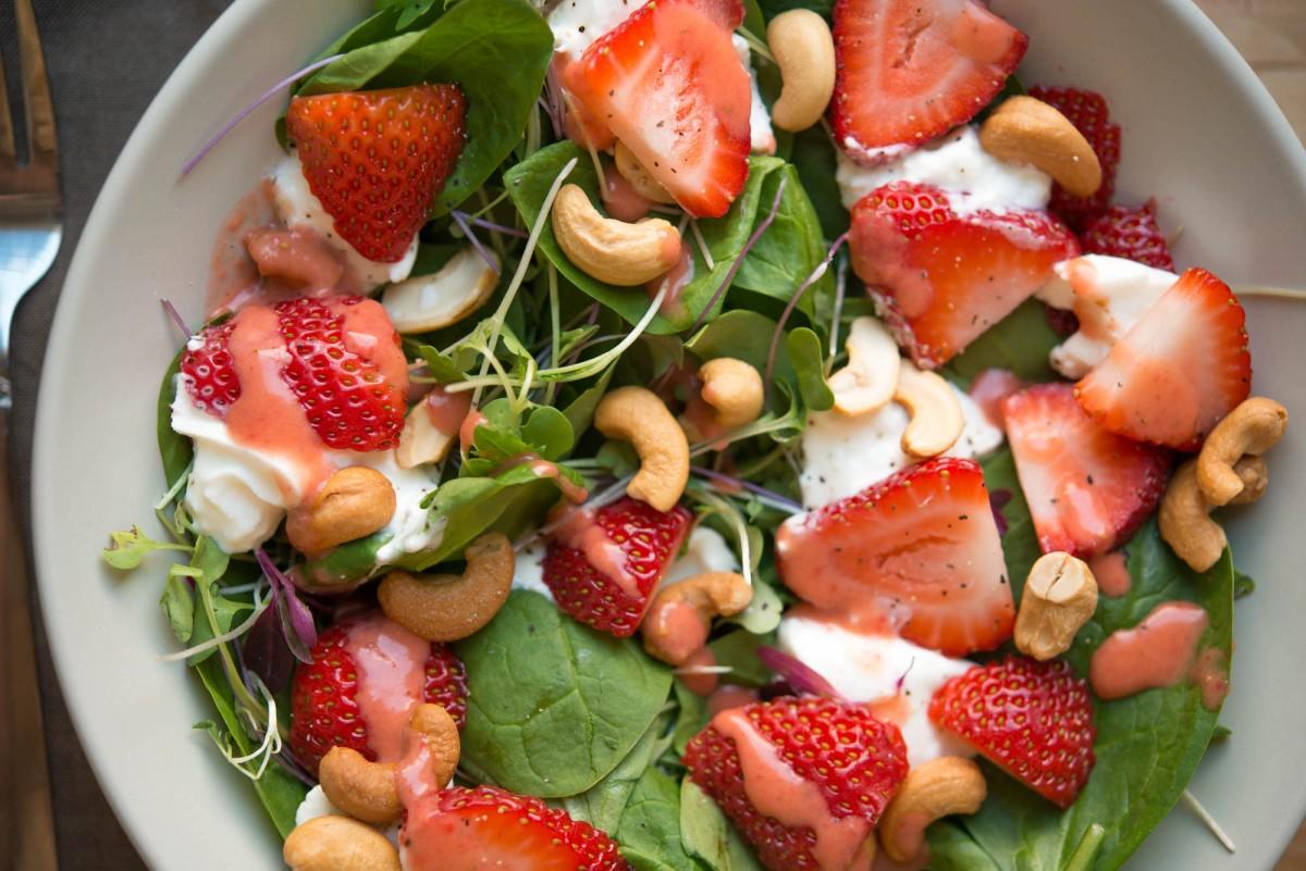 Strawberry Spinach Salad | Garlic, My Soul