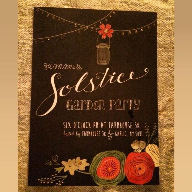Garlic My Soul | Summer Solstice Invite by VerySarie