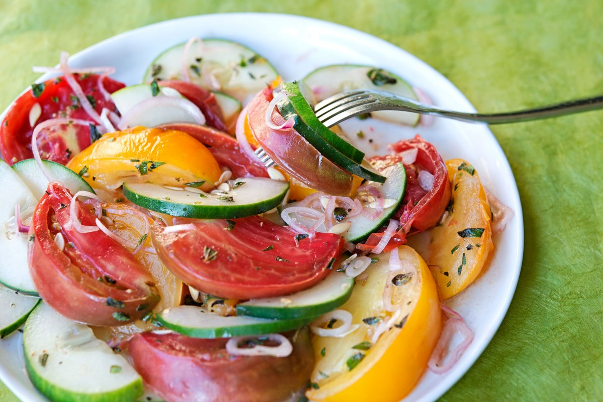 Tomato Cucumber Salad | Garlic, My Soul