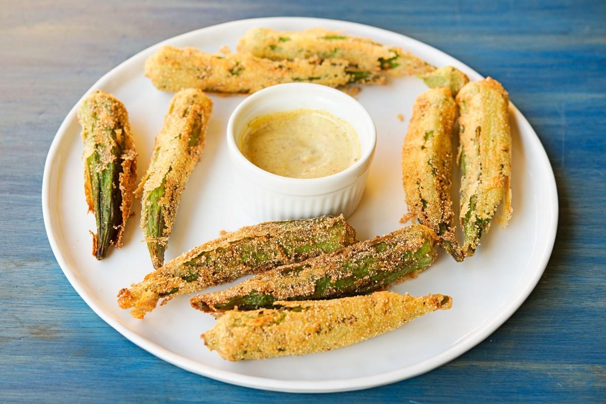 Whole Fried Okra | Garlic, My Soul