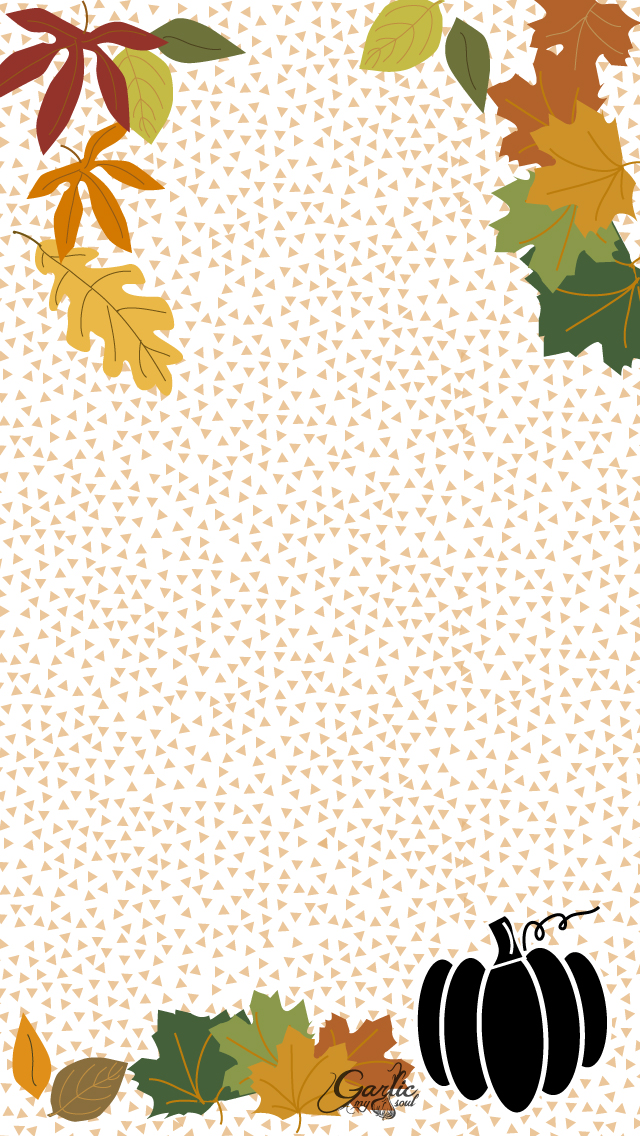 iPhone Background | October | Garlic, My Soul