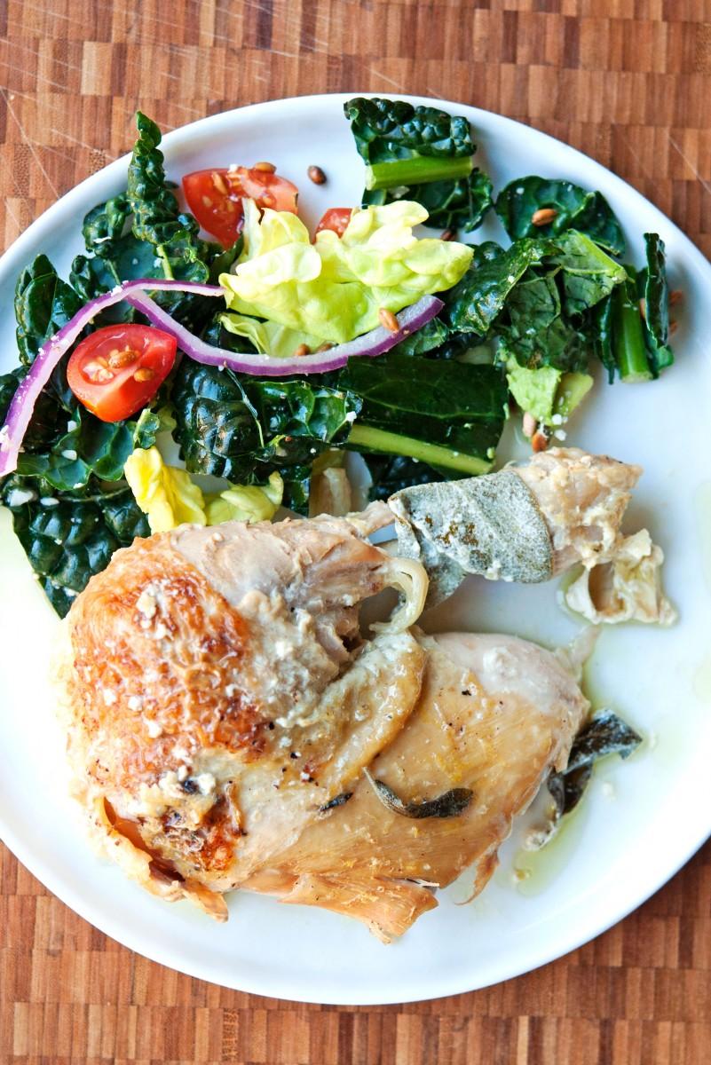 Jamie's Roast Chicken {In MIlk} | Garlic, My Soul