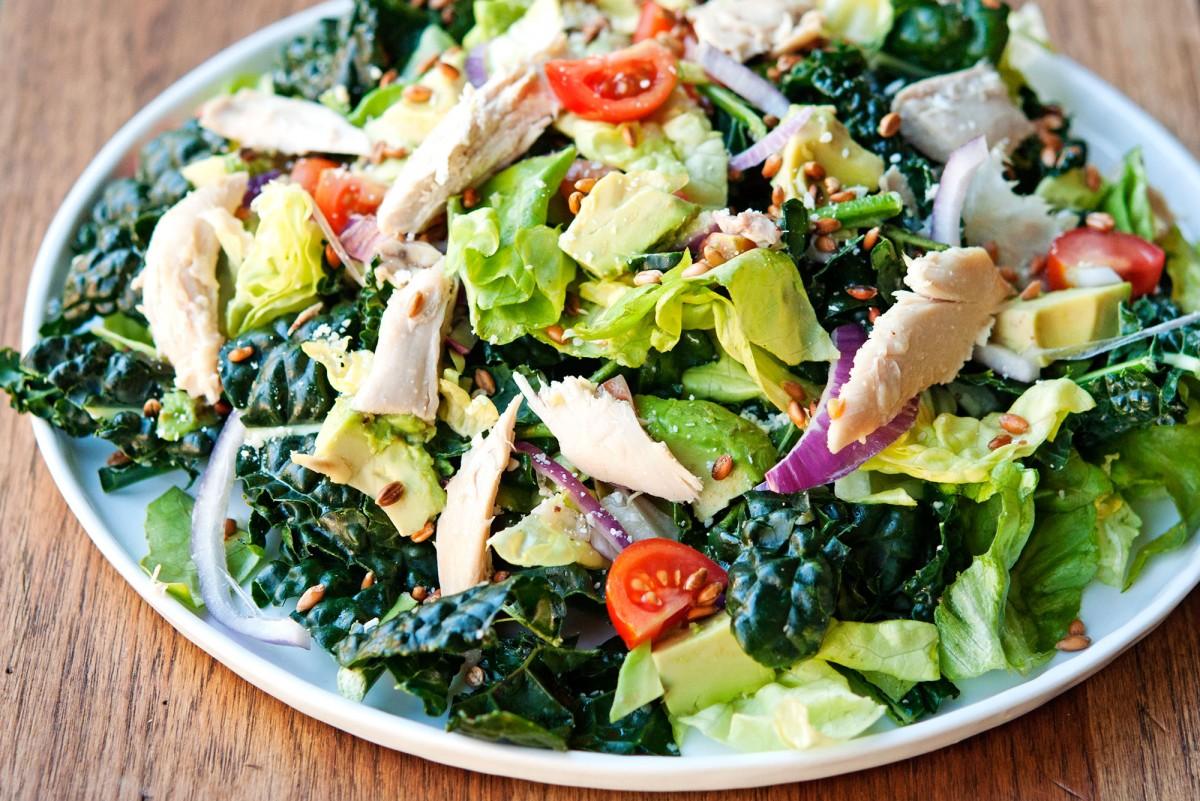Kale Caesar Salad | Garlic, My Soul