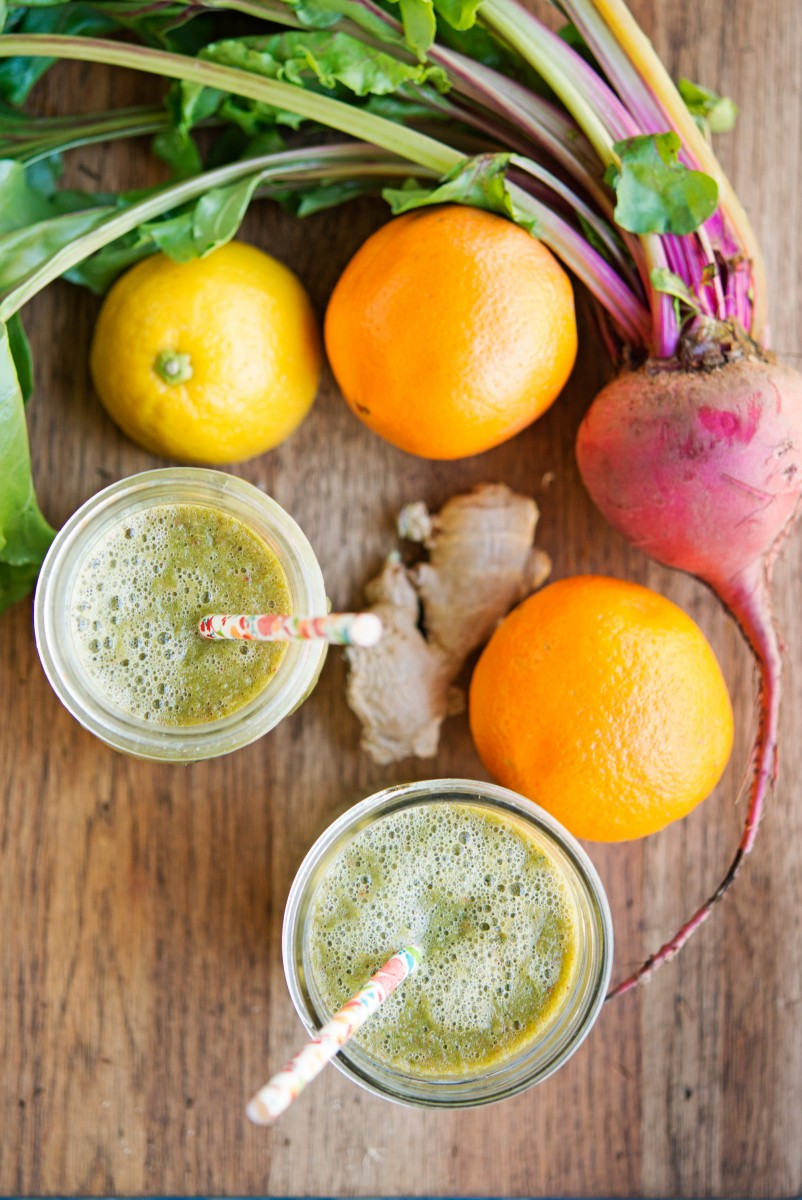 Beet Greens & Citrus Smoothie | Garlic, My Soul